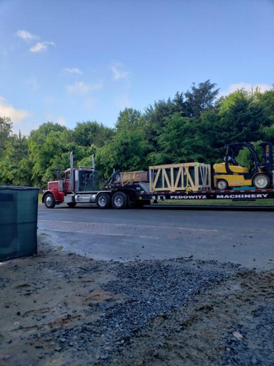 Pedowitz Machinery Movers Charlotte NC Turnkey Trucking and Rigging Services Company Vista Switchgear 8