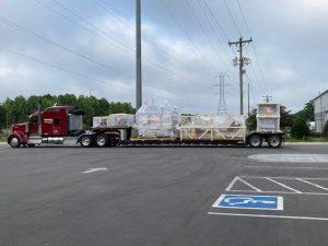 Automated Bottling Machine Bourbon Distillery Marlyand Heights MO Pedowitz Machinery Movers Carolina Trucking & Rigging US Bottlers
