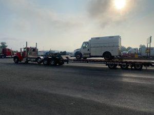 Pedowitz Machinery Movers Carolina Trucking & Rigging Hauling Freightliner Utility Truck Shippers Charlotte