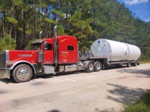 Pedowitz Machinery Movers Shipping Storage Tanks to Tank Farm Charlotte NC 4