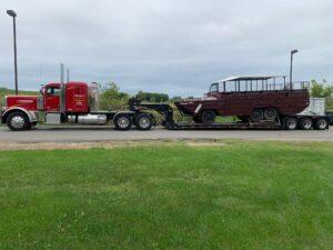 Pedowitz Trucking & Rigging Boat Transportation Services Charlotte Duck Boat 1